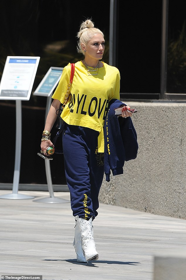 Interesting: She was seen on a solo outing in Los Angeles on Tuesday where she showed off a very interesting gem on her left ring finger