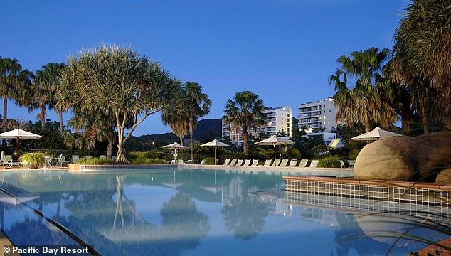 Not bad!  The actor, 57, will soon be building a large film studio in Coffs Harbor, New South Wales, near his Nana Glen estate.  He plans to build the studio at the Pacific Bay Resort (pictured), where there will be on-site accommodation for movie stars and their families