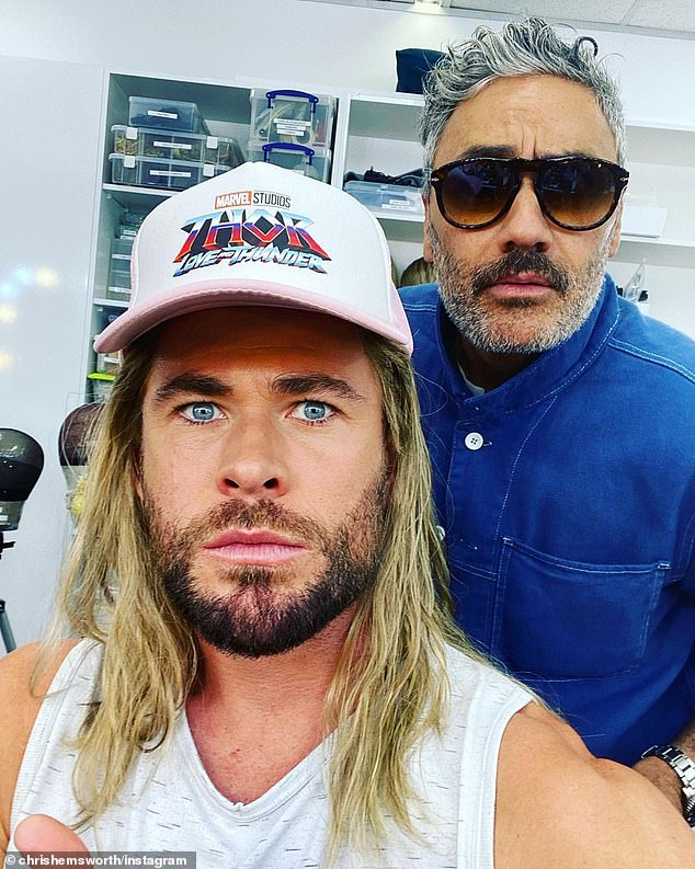 Hollywood 2.0: Filming just wrapped up on the upcoming Thor: Love and Thunder movie, starring Natalie Portman, Chris Hemsworth, Christian Bale, Matt Damon and Chris Pratt, which was shot in Sydney.  Chris is pictured on set with director Taika Waititi