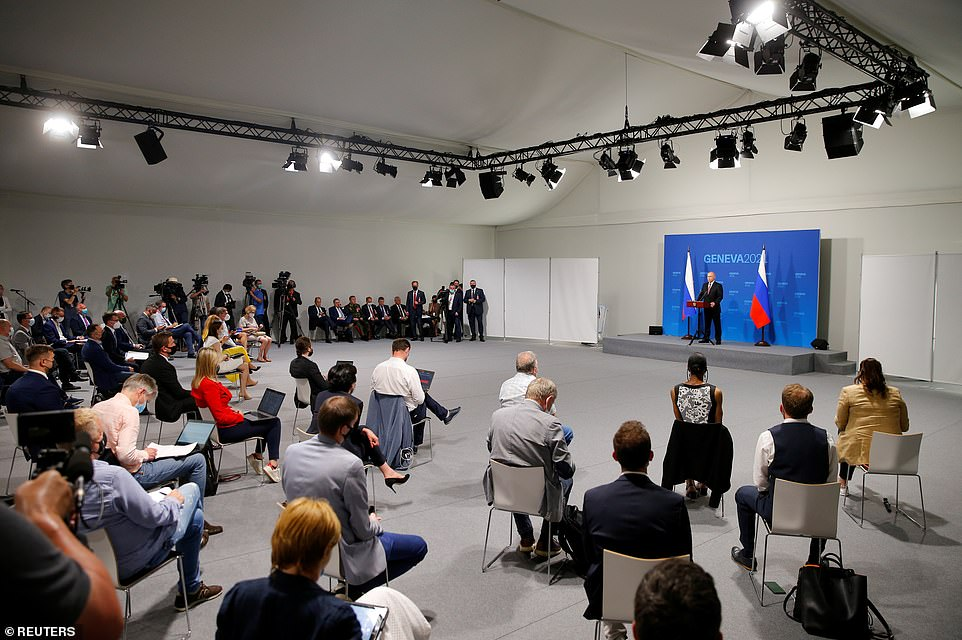 Putin took questions from Russian state media and American news outlets