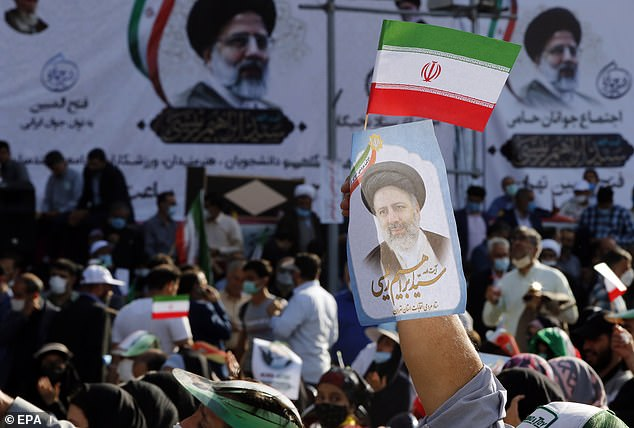 Raisi is the favourite of the regime to win the election, and is also ahead with voters according to polling - though only after moderates were banned from running