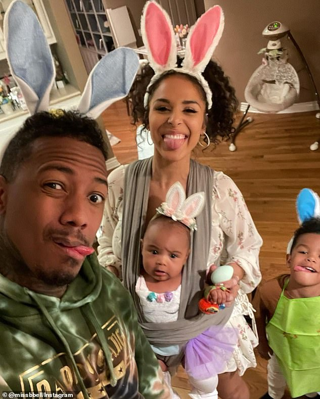 Ex-files: And Cannon also welcomed a daughter in December with Bell, with the couple also sharing a son together