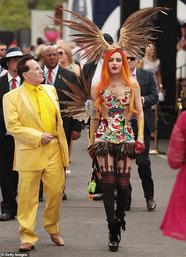 Edelsten would berate those who questioned his fashion sense. He is pictured here in 2014 with Gabi Grecko