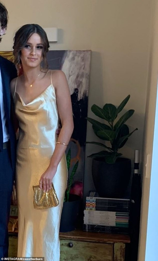 All grown up! Karl Stefanovic's 16-year-old daughter Ava stunned in a gold gown as she attended her first school formal