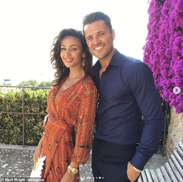 Peacemaker: Former Extra US entertainment reporter Mark admits he'll be keeping things harmonious between his and wife Michelle Keegan's families during the football match