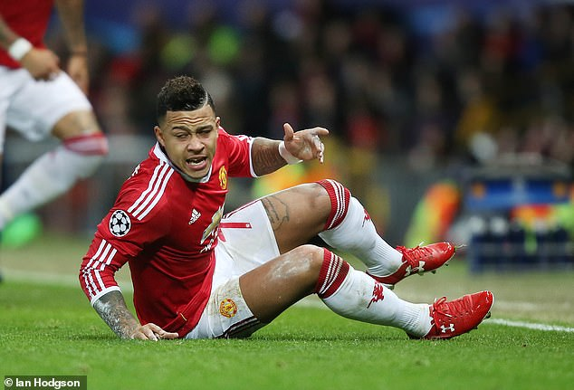 Depay struggled at United during his 18-month spell there having joined in 2015 for £25million