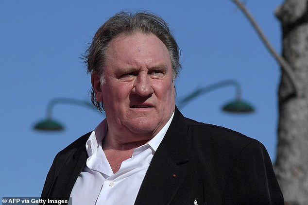Depardieu, pictured, intends to perform songs by the late French singer Barbara – herself a sex abuse victim whom the actor is said to have referred to in 'disturbing text messages' to the young woman he allegedly attacked