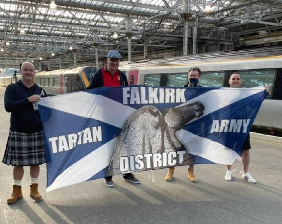 Scotland fans were yesterday already flooding into London ahead of the nation's clash against England at Wembley - with the Tartan Army selling out trains from Glasgow and Edinburgh