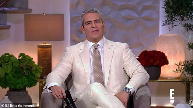 Hard one:The new teaser begins with host Andy Cohen reading a note from a fan. The viewer asked Scott if he thinks he would have a 'shot' with Kourtney if he 'maintained his sobriety.' Kourtney looks uncomfortable at having this topic come up as she looks down. 'Yes,' said Disick