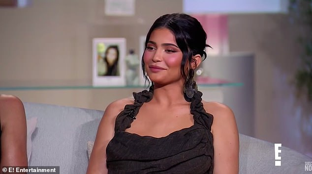 Uncomfortable:Kylie starts to laugh as she says, 'Sorry this is just so deep!' Cohen snaps back: 'It is deep.' 'I came out here to get it deep,' adds Disick as he was brought into the room after the ladies hashed things out