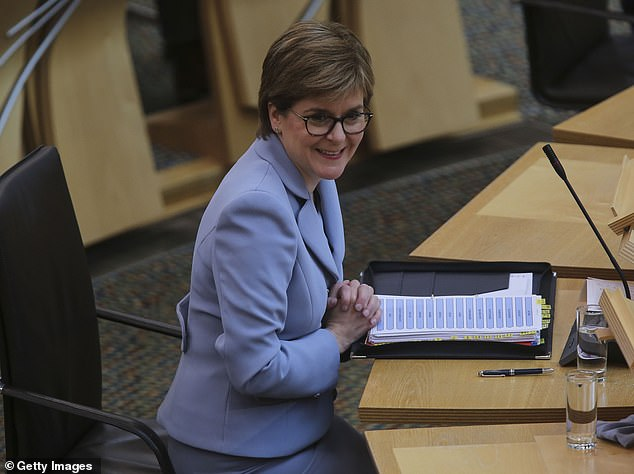 Nicola Sturgeon had tweeted her approval of Scotland's players taking the knee on Friday
