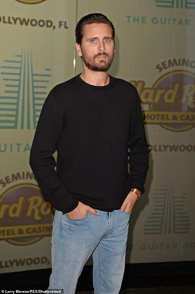 Supportive: Scott Disick proved he will always have Khloe Kardashian's back, especially when it comes to defending her against cyberbullying from Instagram trolls; seen in 2019