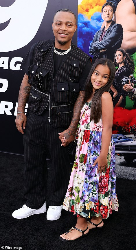 Excited: Bow Wow appeared with his daughter who looked very excited to be there