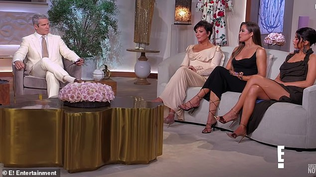 Cliffhanger: At the end of the episode Andy quizzed, 'Have you forgiven Caitlyn for how she treated you after the divorce?'. Her answer to that will be revealed in part two of the reunion, which will air on Sunday