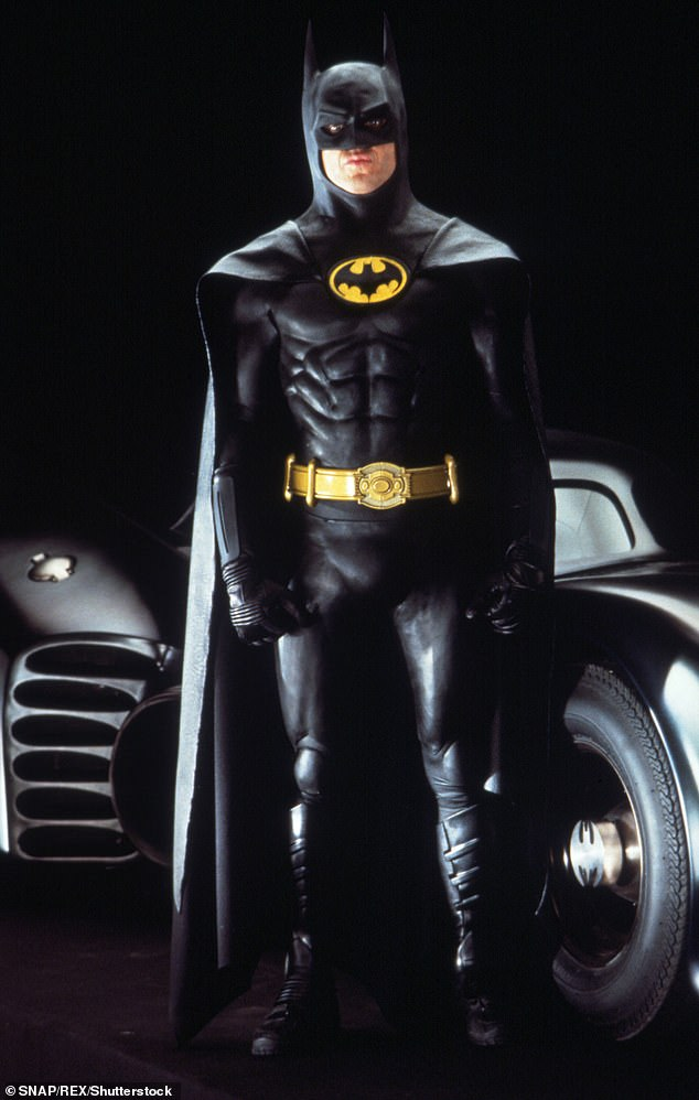 Iconic: The 69-year-old actor originally played millionaire Bruce Wayne and his anti-crime alter ego in Tim Burton's classic Batman in 1989 and its 1992 sequel, Batman Returns