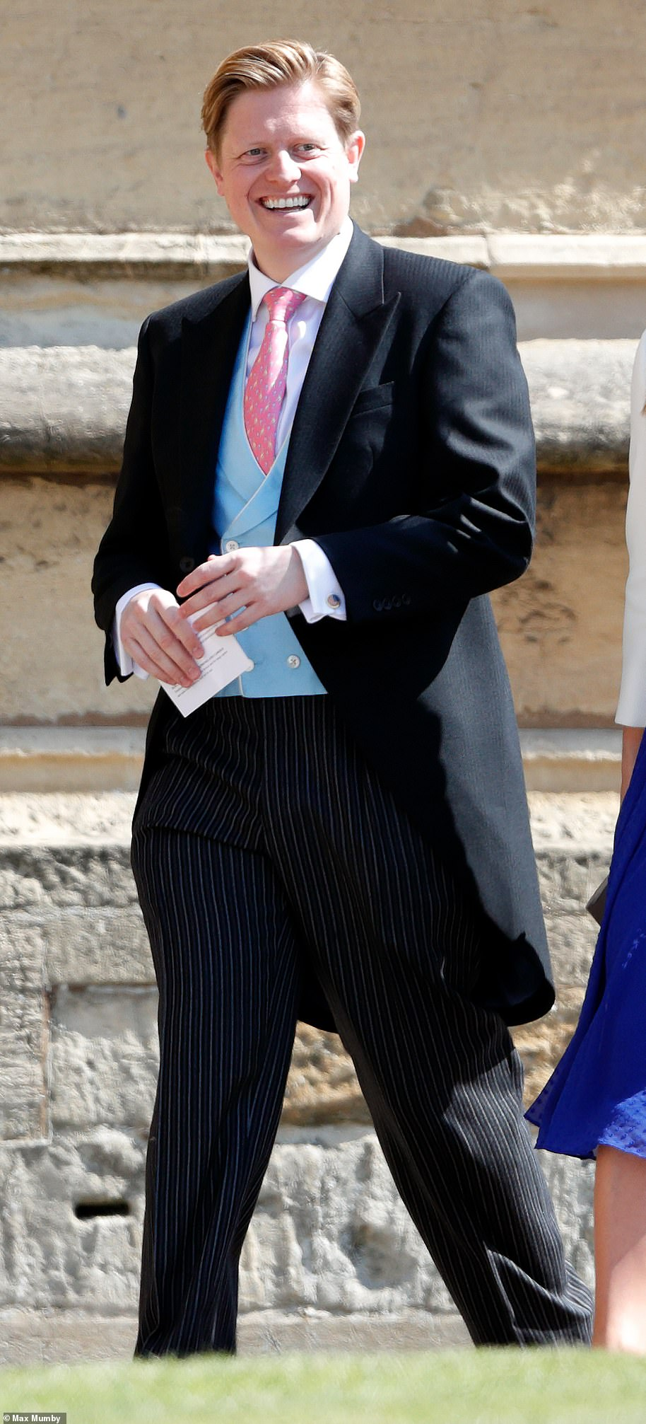 Publicity guru James Holt (pictured in 2018 at the Sussexes wedding) is a major part of Team Sussex. Formerly a local newspaper reporter in Shropshire, he became an adviser to Nick Clegg when he was Deputy Prime Minister
