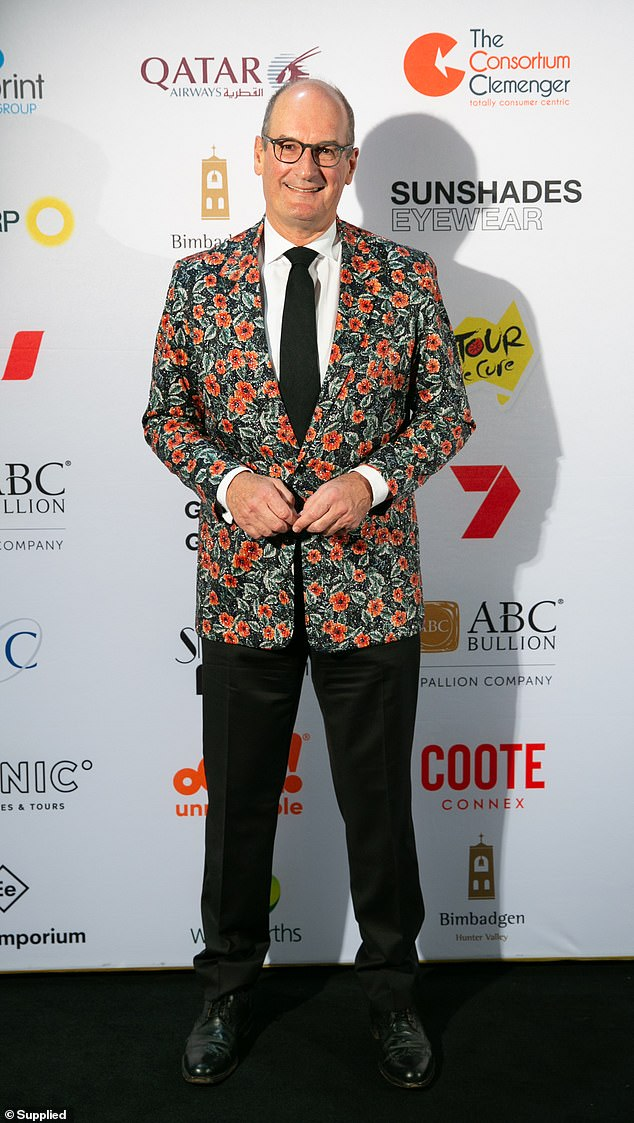 How divine!  Natalie co-host David 'Kochie' Koch looked equally eye-catching in a vibrant floral blazer and black tie