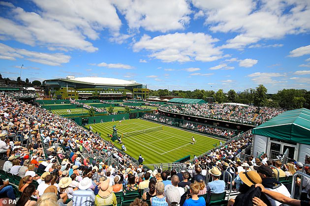 Centre Court and Court One at Wimbledon operated at full capacity in the Championships' second week