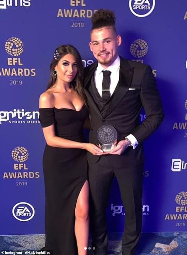 In February Leeds United midfielder Kalvin Phillips, 25, marked his 11th Valentine's Day with girlfriend Ashleigh Behan