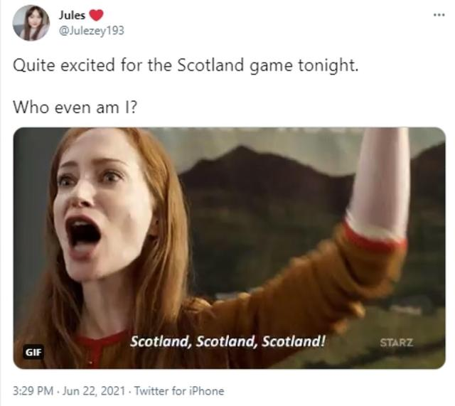 'Who even am I?': The highly-anticipated game between Scotland and Croatia seems to have got everyone excited, even non-football fans