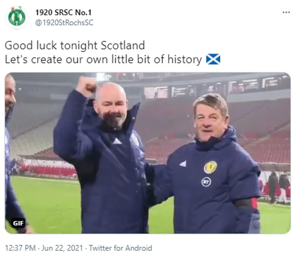 Fans have taken to social media to wish Scotland luck as they attempt to make football history and qualify out of the group stage of the Euros for the first time ever