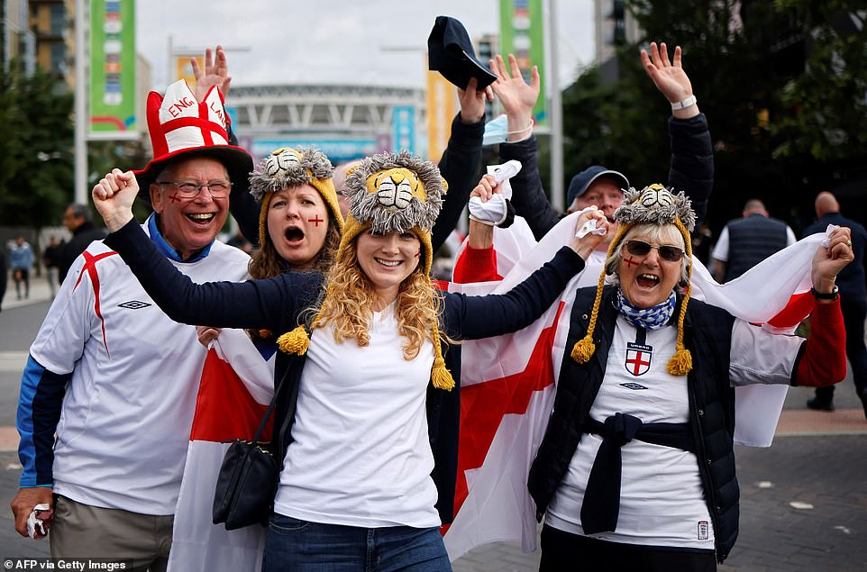 Expectant England fans have already begun streaming into pubs and bars ahead of tonight's clash with the Czech Republic - as the Tartan Army gears up for Scotland's match against Croatia