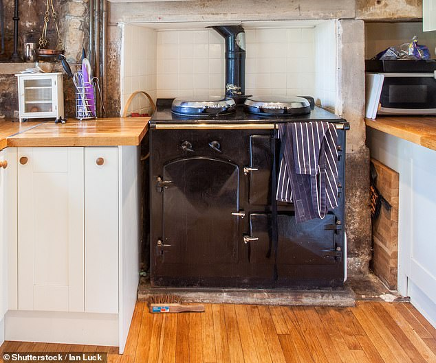 When the 74stone Aga (example pictured above) fell off the trolley, the cooker pinned grandfather Mr Rees to the floor