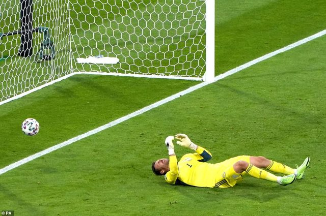 Scotland goalkeeper David Marshall concedes the second goal from Croatia's Luka Modric during the UEFA Euro 2020 Group D match at Hampden Park