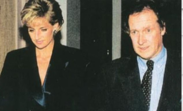 Princess Diana with trusted driverminder Colin Tebbutt.Tebbutt and Paul Burrell, Diana's butler, were picked up at the airport by British diplomatic staff and taken to the embassy