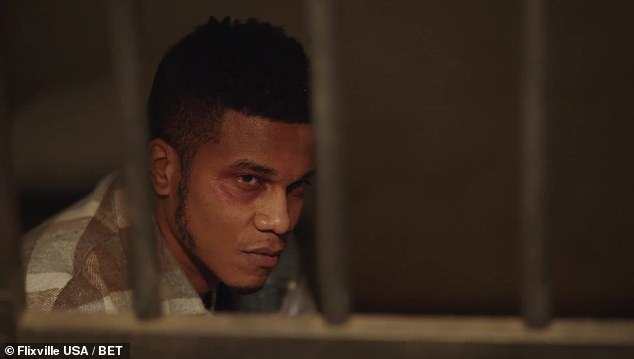 Cuffs:The trailer winds down with a number of rapid shots including Malik put in handcuffs, Imani wanting to sell the house and the discovery of a soap dispenser with a confederate flag