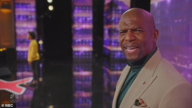 So confused:The other judges looked surprised when Sofia panned Jimmie's performance and show host Terry Crews, 52, remarked, 'What is going on today?'