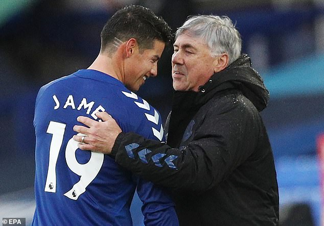 James Rodriguez could be about to follow Carlo Ancelotti through the Everton exit door