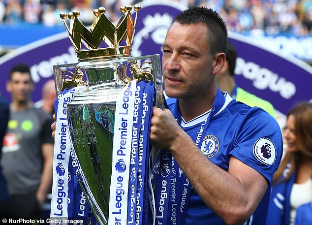 Chelsea legend Terry won a total of five Premier League titles during 19 years at the club