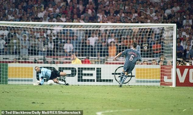 England could face Germany in the next round, a repeat of the infamous 1996 Euros semi-final, also at Wembley, which saw England crash out against their rivals after Gareth Southgate missed the deciding penalty in a dramatic shoot-out