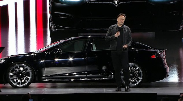 Tesla began delivering its long-awaited Model 3 Plaid on June 11 that is deemed its fastest car yet. Elon Musk (pictured) introduced the near $130,000 car