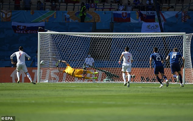 Dubravka had earlier saved a penalty from Spain striker Alvaro Morata after a VAR call