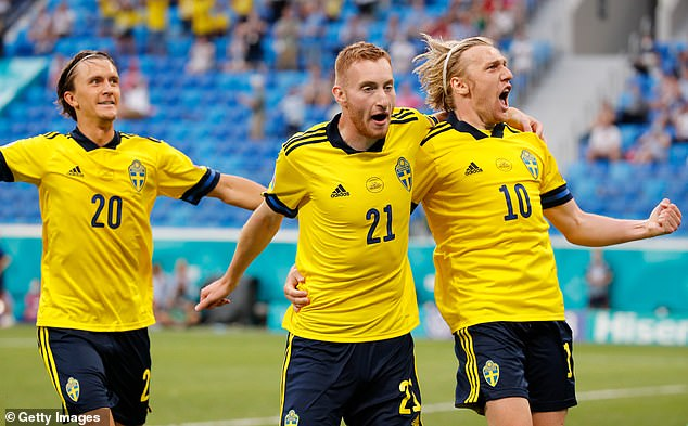 The result means Sweden will play the Czech Republic in the last 16 at Hampden Park