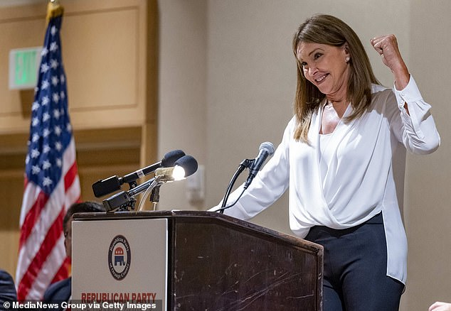 Jenner at a campaign event in California on June 21. She is running as an 'inclusive Republican', she says