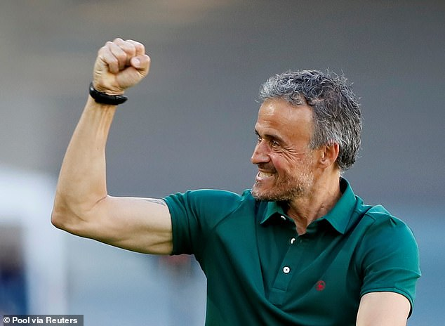 Spain boss Luis Enrique was all smiles after his side thrashed Slovakia 5-0 on Wednesday