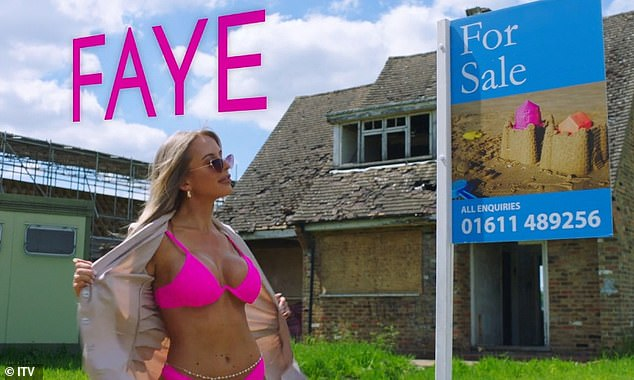 Goodness!In the clip, letting manager Faye Winter, 26, strips down to a skimpy pink bikini while pretending to conduct a house viewing