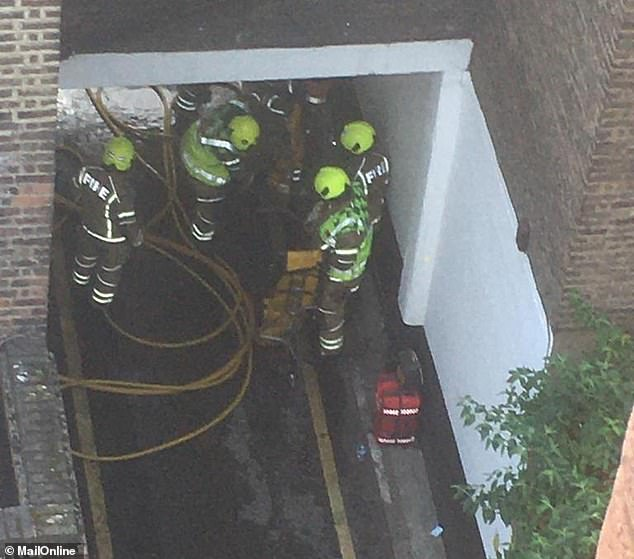 70 firefighters were needed due to them having to wear breathing apparatus and the seat of the fire being difficult to access