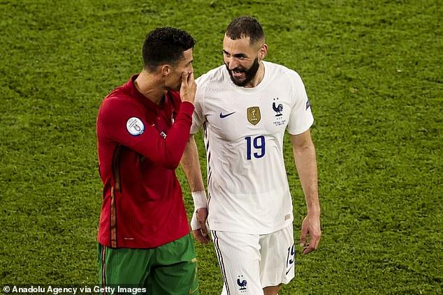 Cristiano Ronaldo and Karim Benzema both scored a brace in an entertaining 2-2 draw