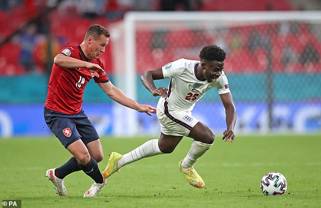 Saka was England's standout player and got huge praise from his team-mates for his display