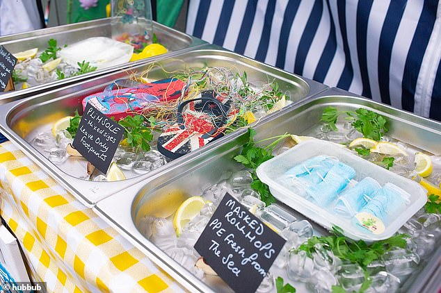 A spoof fishmonger's stall in Bournemouth will help increase public awareness of the pollution problem