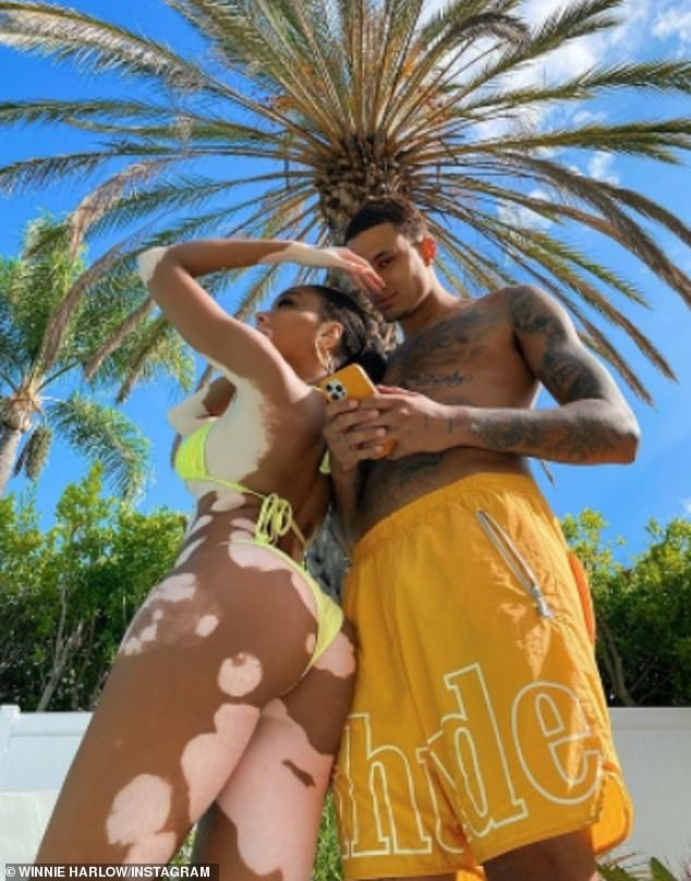 Smitten: Winnie and her boyfriend Kyle Kuzma, 25, have been spending quality time together recently, and appear to be going from strength to strength