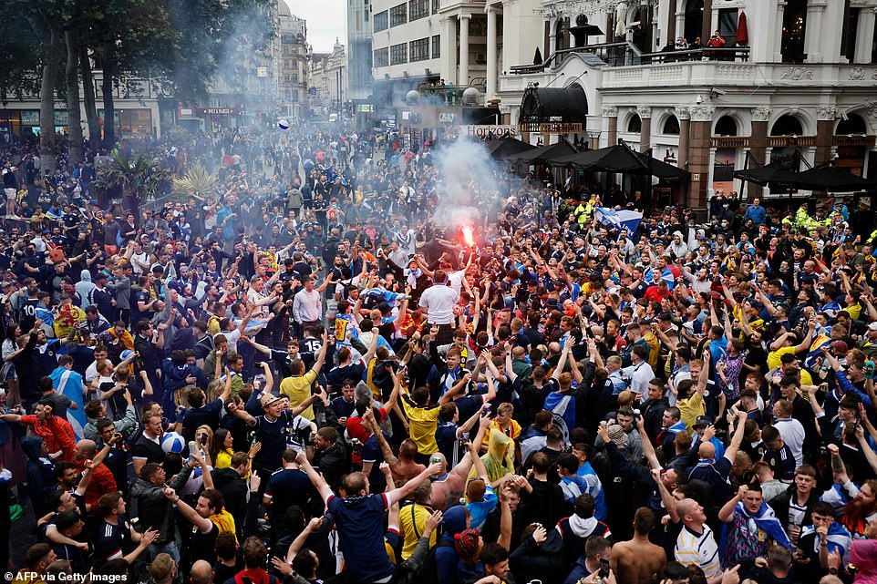 There were wild scenes of jubilation throughout the day. Euro 2020 was the first major competition the Scottish national football team had qualified for in 23 years