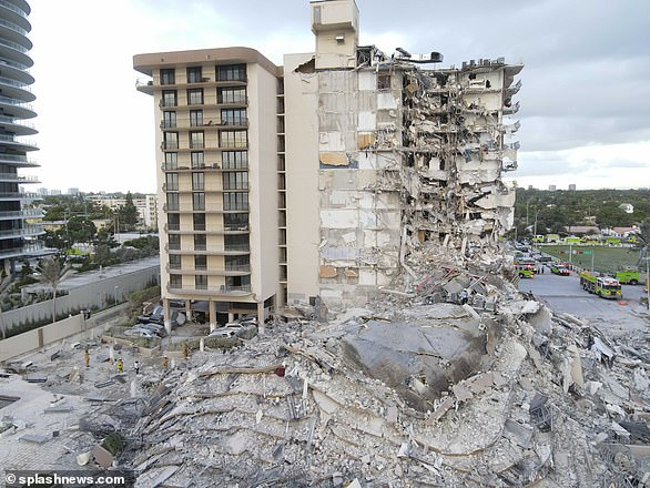 A huge emergency search and rescue operation is underway after the beachfront condo tower, Champlain Towers South, collapsed at about 1.30am this morning in the Miami neighborhood of Surfside. One woman has been confirmed dead and at least eight people were injured