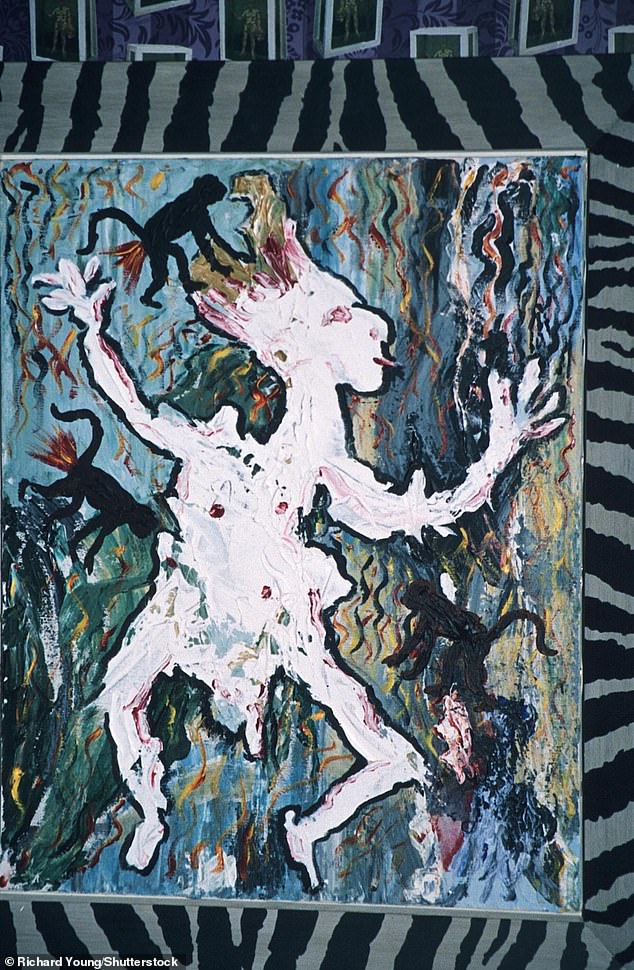Bowie's artwork was heavily influenced by the modernist art trends of the twentieth century and his paintings have the stylistic influences of the German expressionists, Francis Bacon and the London School of painters. One of his portraits is seen at a gallery in London in 1995