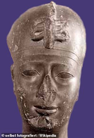 According to Herodotus, Apries (pictured) fought to reclaim his crown after the coup but, after making it back to Memphis, was strangled to death by his former subjects