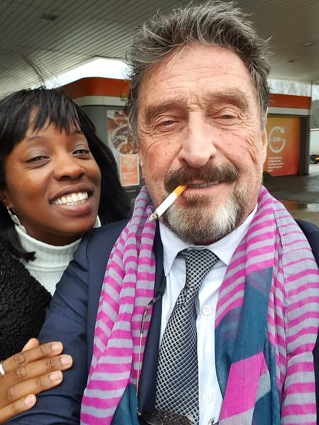 John McAfee is pictured together with his wife Janice, who insists he did not kill himself
